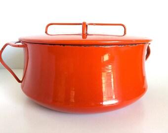 Red Dansk Kobenstyle Pot 5 Quarts
