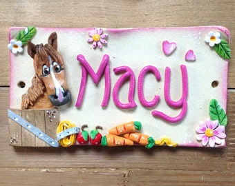 Stable Stall Sign, Horse Name Plate Personalised