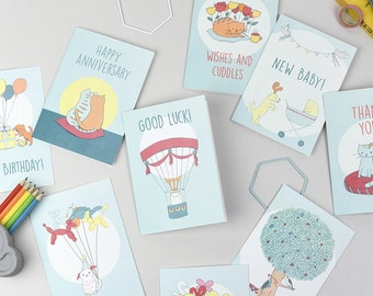 Pack of 10 Assorted Greetings Cards
