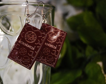 Necronomicon Book Earrings