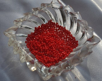 Opaque Red Size 11 Japanese seed beads