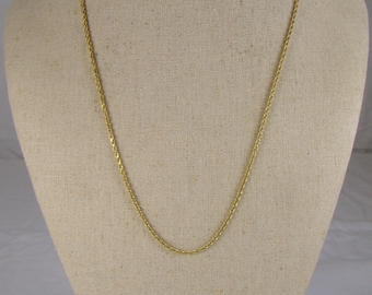 "Glinting 14K Gold Cable Chain Necklace ~ 20"" Long"