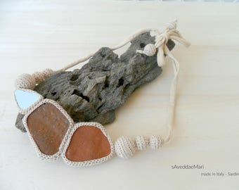 Summer Necklaces, Crochet Jewelry, Summer Jewelry, Summer Collection, Made in Italy, Sardinia, Creative Recycle, Women's Jewelry