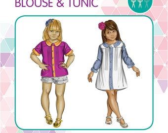 PATTERN Library Blouse and Tunic - PDF Sewing Pattern - Instant Download - Tadah Patterns