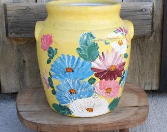 Vintage Ransburg Pottery Cookie Jar, Ransburg Pottery Country Kitchen Storage, Ransburg Pottery Planter