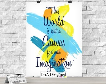 This World is but a Canvas for our Imagination Digital Print - Henry David Thoreau Quote - DIY - {65DP}