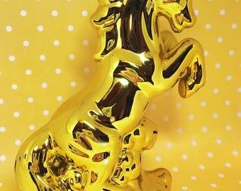 Vintage Fancy Gold Unicorn Figurine