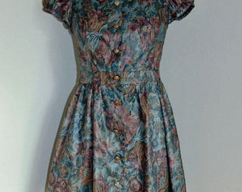 Spring Tapestry Print Dress