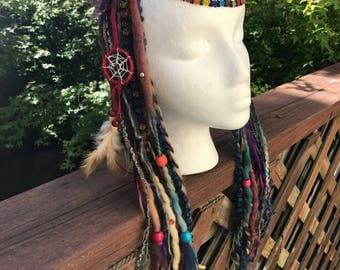 Earth Rainbow Dreaded Headdress