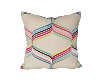 Assisi Multi designer pillow cover - multicolor pillow - made to order - choose your size