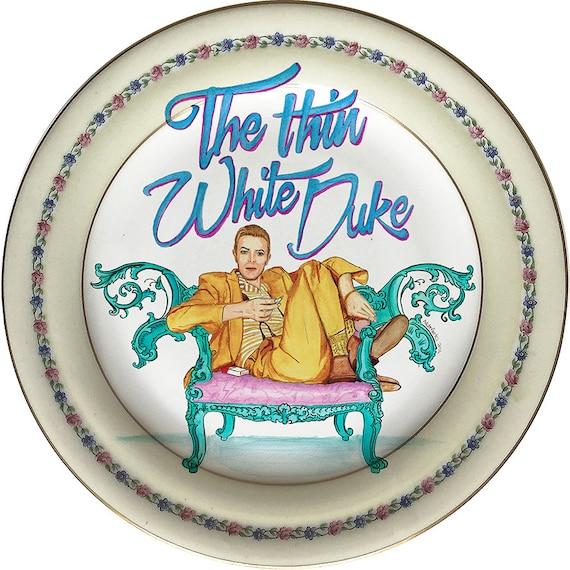 The Thin White Duke - David Bowie - Series C S & L C France - Vintage Porcelain Plate - #0439