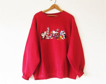 Vintage 1990s Looney Tunes Warner Brothers Sweatshirt Sz XL