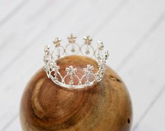 Newborn Crown Photo Prop Baby Crown Headband Newborn Princess Crown Photo Prop Baby Tiara Headband Newborn Rhinestone Crown RTS Prince SALE