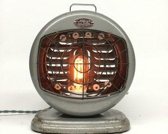 Antique Desk Lamp, Sun Valley, Industrial Lamp, Industrial Lighting, Steampunk Lighting, Reclaimed Heat Lamp, Retro Desk Lamp