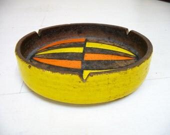 Mid Century Italian Pottery Bowl or Ashtray