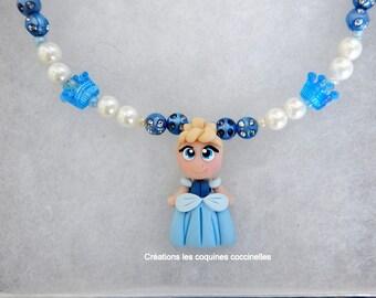 girl necklace, Princess, fimo, girl gift, Princess polymer clay, charm bracelet, girl,