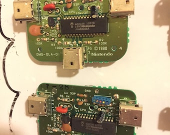 Nintendo Gameboy DMG-07 Four Player Adapter PCB Circuit Board Fridge Magnet // cool retro 8bit steampunk vaporwave kush dope