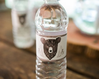 Printable Water Bottle Labels - Man Cub Birthday