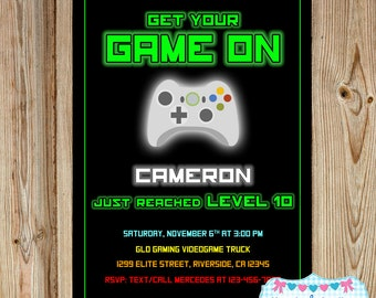 gaming invitation video game invitation videogame birthday gaming party invitation game party - Video Game Party Invitations