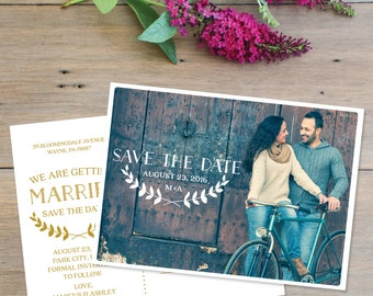 Save The Date - Simple Wedding Save The Date Postcards - Save The Date - Boho Chic Postcard - Save Our Date - Save The Date Card