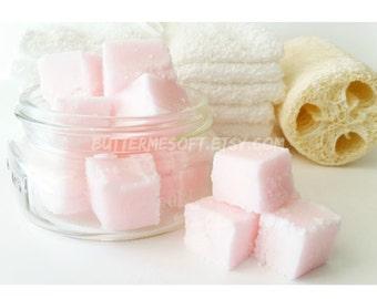 Vanilla Butter Sugar Scrub Cubes, Exfoliating Scrub, Body Scrub, Body Exfoliant, Gifts For Her, Moisturizing Scrub, Vanilla Scrub