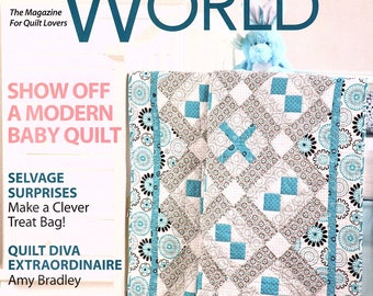 Quilter's World - February 2010 - Baby Quilt Pattern - Snowflake Quilt Pattern - Heart Quilt Pattern - I Love You Quilt Pattern