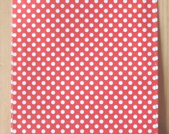 """Paper gift bags, 7x13 cm/ 2.8""""x5.1"""", set of 25, gift wrapping, red giftbags, red with white dots, Holland Dots"""