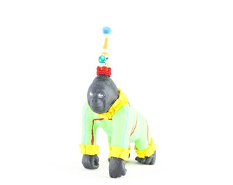 "Jumbo Party Animal  ""Andrew"" the Gorilla painted carnival, circus, and birthday decor"