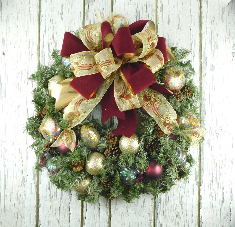 wreath for winter winter wreath front door wreath christmas. Black Bedroom Furniture Sets. Home Design Ideas