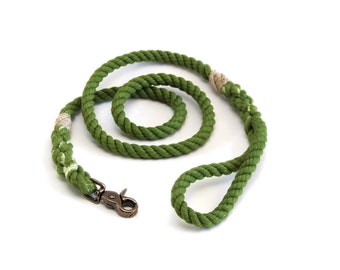 6 FT Earth Green Rope Dog Leash