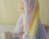 "Lilla, unicorn doll 12"" Made to order by Calinette"
