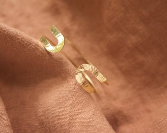 Leola Cuff | Brass or Sterling Silver