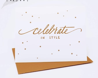 Celebrate, Blank Greeting Card