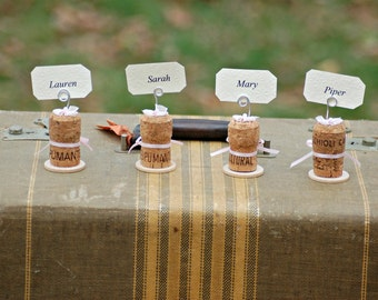 Wedding Party Champagne Cork Place-cardholders