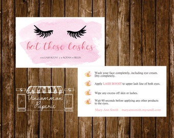 Lash Boost Instructions Card