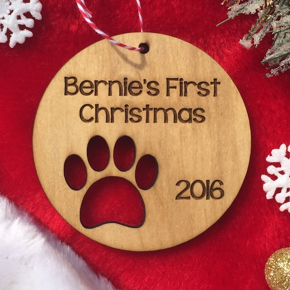 Personalized Dog Christmas Ornament - Puppy's First Christmas