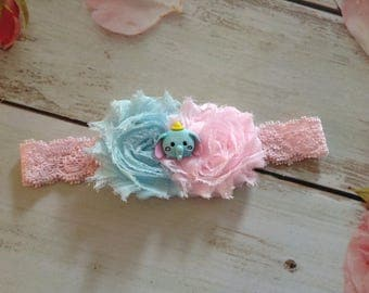 Newborn baby girls couture headband-Dumbo the Elephant-tsum tsum theme