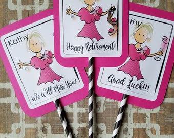 Retirement Party - Decorations for Retirement Party - Farewell Party Decorations - Centerpiece Toppers for Retirement Party - Cake Toppers