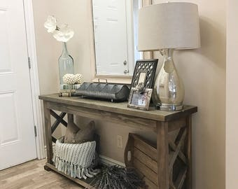 Rustic farmhouse entryway table, sofa table, console table