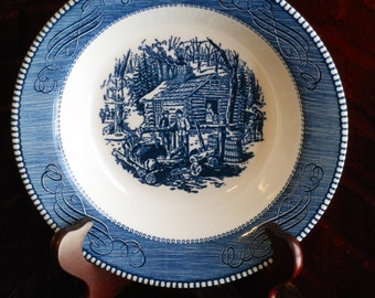 Currier and Ives. Maple Sugaring. Serving Bowl.
