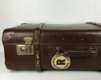Antique Suitcase 1910s White Star Luggage Celluloid Vintage 1910s Suitcase Old Worn Suitcase