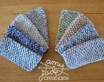 Kitchen Dish Cloths - Pastel Range / Christmas Stocking Filler / Knitted Dish Cloth / Kitchen Accessories / Housewarming Gift / Dish Rags
