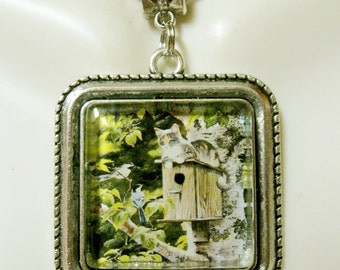 Smart kitty pendant with chain - CAP05-144