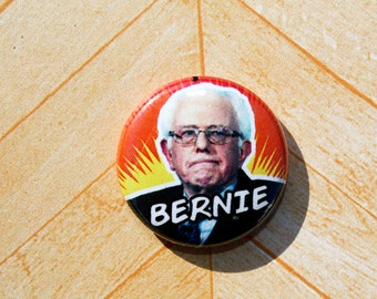 Bernie Sanders Democrat Politics Political Protest-One Inch Pinback Button Magnet