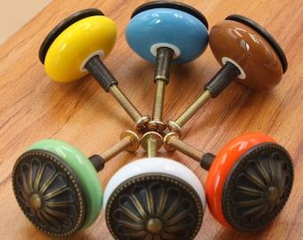 Ceramic Knobs / Dresser Knobs Drawer Knobs  /European  Pastoral Knob / Cabinet Knobs / Kitchen Door Knob Furniture Hardware 3109