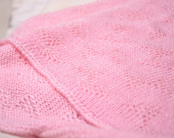pink baby girl blanket, knit baby afghan, baby gift ideas, baby accessories, stroller blanket, child photography