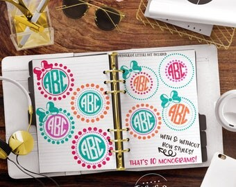 Circle Monogram svg, Monogram svg, Monogram svg Bundle, Monogram File, Monogram Cut File, eps, dxf, png Cut Files for Silhouette for Cricut