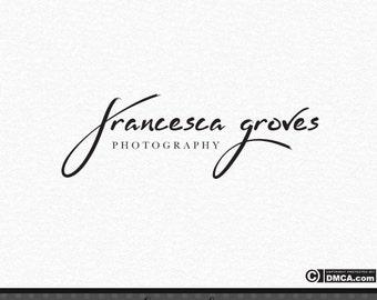 Premade Signature Logo, Photography Logo, Photography Watermark, Photographer Logo, Elegant Logo, Handwritten Logo, Simple Logo, Logo Design