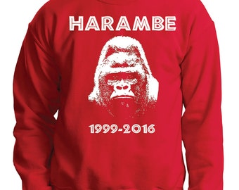 Harambe Sweatshirt RIP Harambe Meme Sweater