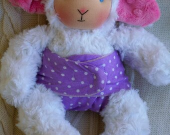 Made to order. Waldorf lambie. Cuddle Doll, Soft Toy by Moja lala, ECO friendly